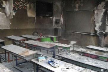 آتشگرفتن بخاری نفتی در مدرسه باعث سوختگی معلم شد