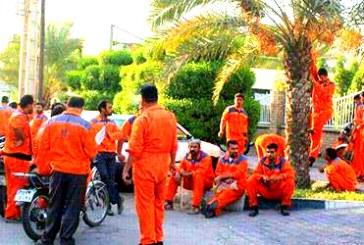 تجمع اعتراضی کارگران خدمات شهری شهرداری شیراز