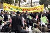 تجمع ۵۰۰ کارگر بازنشسته فولاد اصفهان در تهران؛ دو کارگر سکته کردند