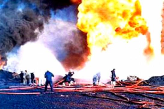 مصدومیت ۶ کارگر بر اثر آتش سوزی پالایشگاه آبادان