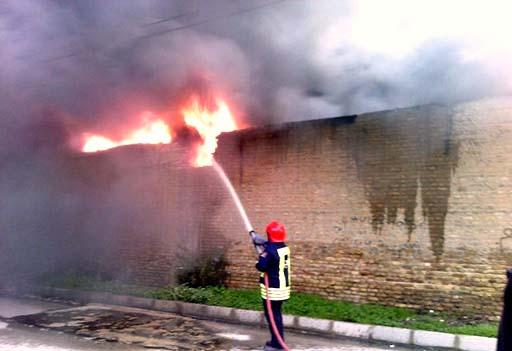 مرگ کارگرایرانی در میان شعلهها