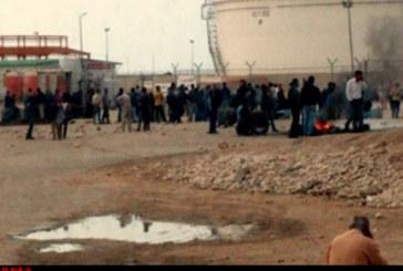 اعتراض نیم ساعته کارگران پیمانکاری فازهای ۲۰ و ۲۱ عسلویه