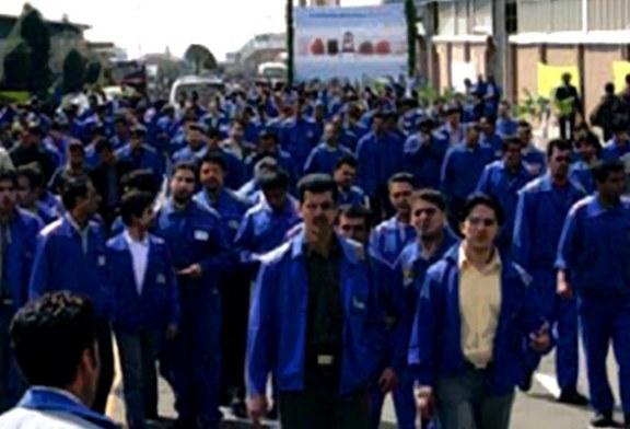 تجمع کارگران پیمانی پالایشگاه پتروپارس به روز پنجم کشیده شد