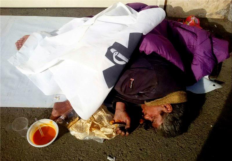 مرگ یک کارتنخواب در یافتآباد / تصویر