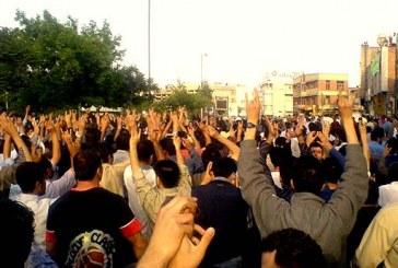 اعتراض ۵۰۰ نفری کارگران نیشکر هفتتپه بابت معوقات مزدی