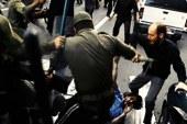 ضرب و شتم کارگران معترض توسط نیروی انتظامی