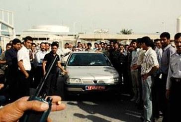 کارگران شهرداری اندیمشک تجمع کردند