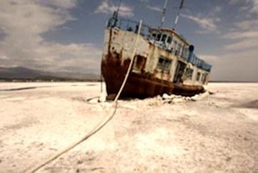 کاهش ۱۸ سانتی متری تراز آب دریاچه ارومیه در یک سال