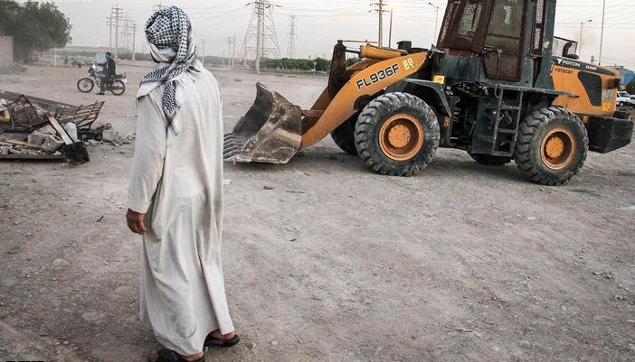 تخریب خانه های مردم عرب زبان در کوی مشعلی شهر اهواز