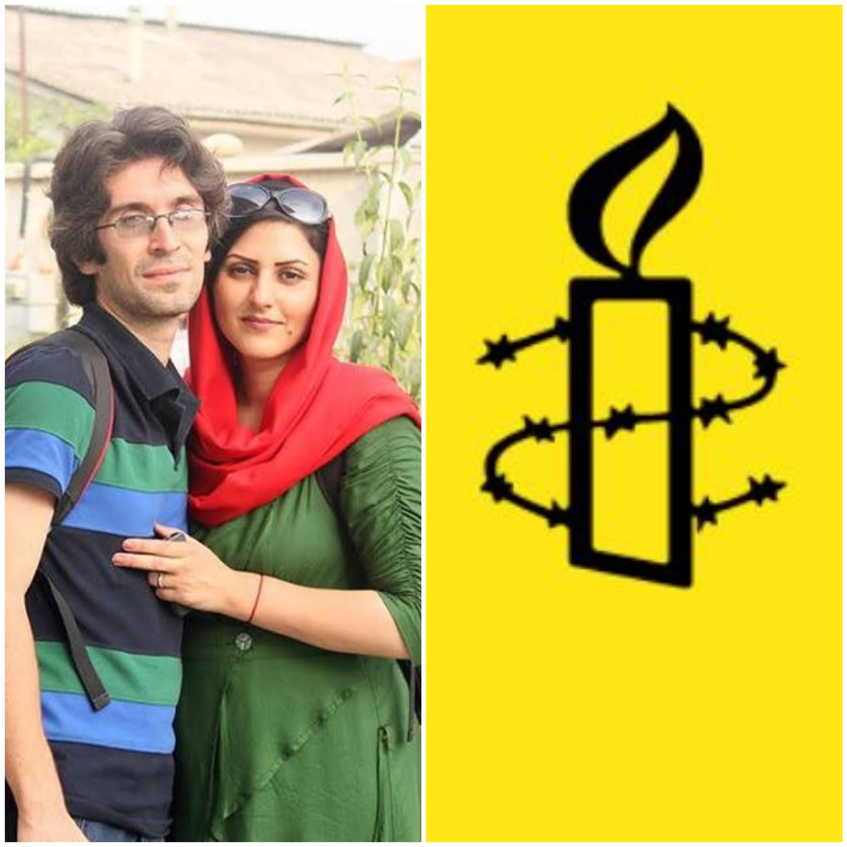 اعتراض عفو بینالملل به احکام صادره برای آرش صادقی و گلرخ ابراهیمی