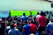اعتصاب و تجمع اعتراضی رانندگان حمل و نقل پایانه ی بندر عباس
