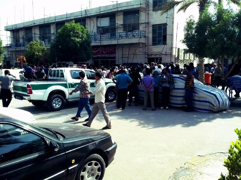 اعتصاب رانندگان حمل و نقل پایانه ی بندرعباس۲