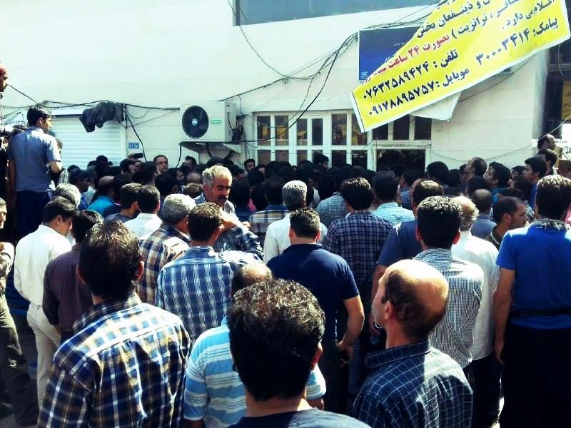 اعتصاب رانندگان حمل و نقل پایانه ی بندرعباس۳
