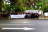تجمع اعتراضی مهندسان در مقابل شورای شهر