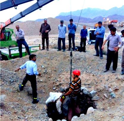 مرگ یک کارگر مقنی در نیشابور حین کار