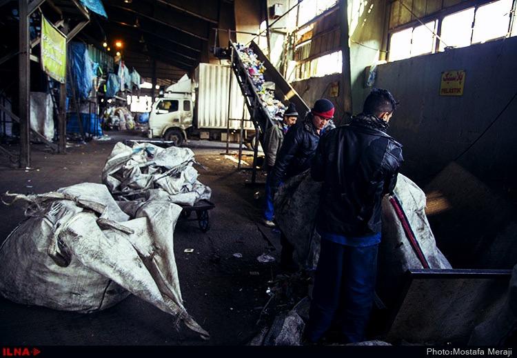 کارگران سایت پسماند زباله۵