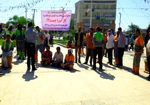 اعتصاب کارگران شهرداری خفاجیه