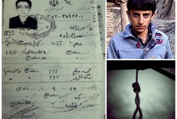 خطر اجرای حکم اعدام برزان نصرالله زاده، کودک-متهم سنیمذهب