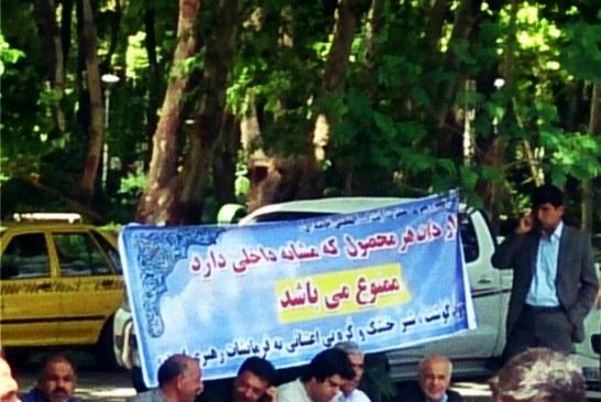 تجمع اعتراضی دامداران اصفهان به اجرا نشدن مصوبه هیأت دولت