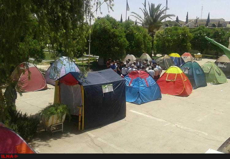 چادر نشینی کارگران