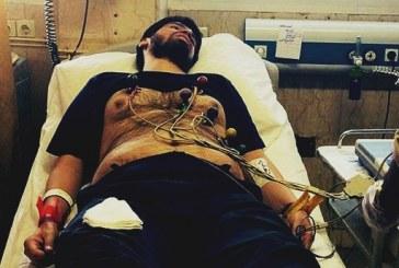 احسان مازندرانی بعد از ایست قلبی به بیمارستان سینا منتقل شد