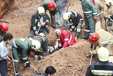 مرگ یک کارگر جوان در پی ریزش آوار در زمین گودبرداری شده