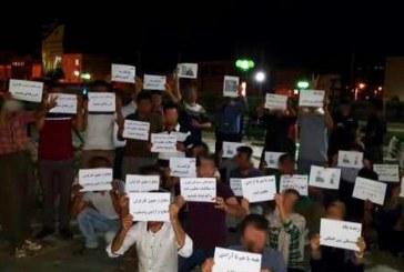تجمع فعالین مریوانی در اعتراض به وضعیت زندانیان اعتصابی و کارگران آقدره
