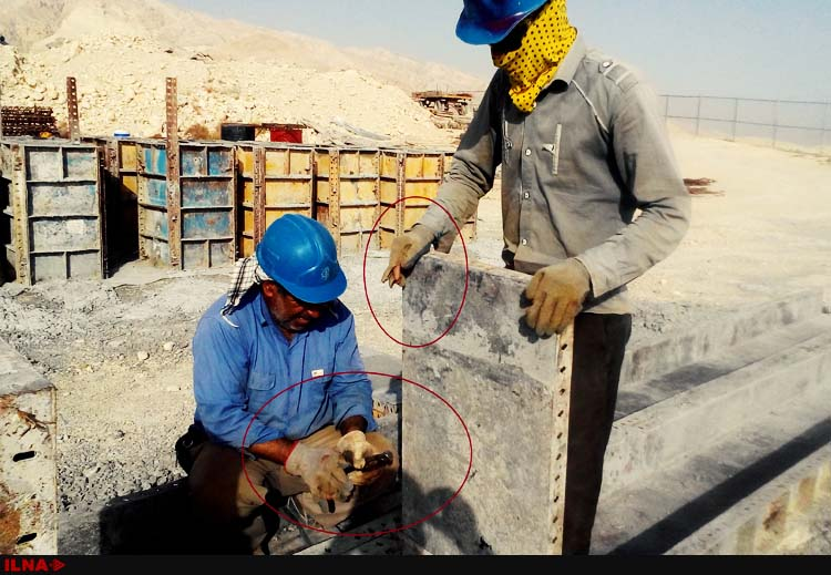 کارگران فاز۱۴ عسلویه