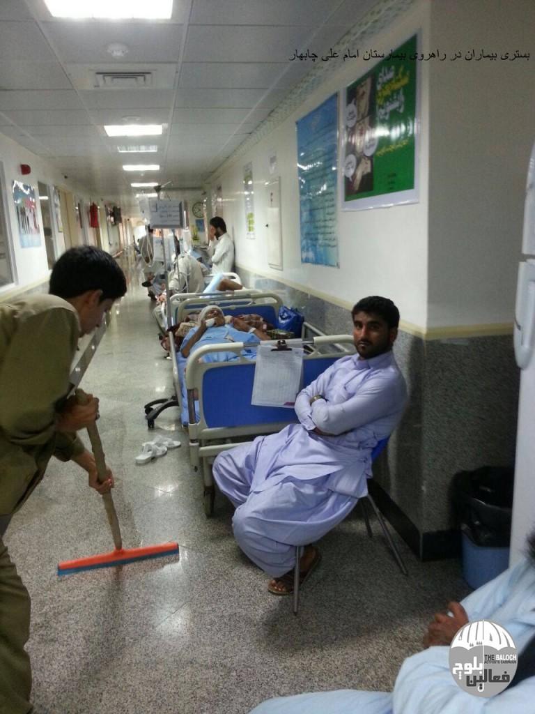 بستری بیماران در راهروی بیمارستان امام علی چابهار / گزارش تصویری
