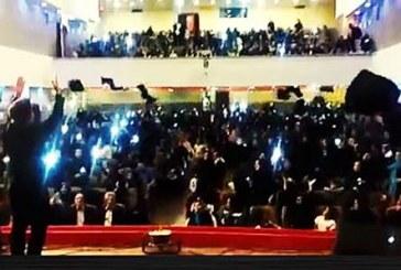 دردسرهای پرتاب چادر در جشن فارغ التحصیلی دختران یزدی