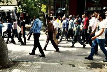 تجمع مردم هرسین در اعتراض به آب اشامیدنی ناسالم / تصاویر