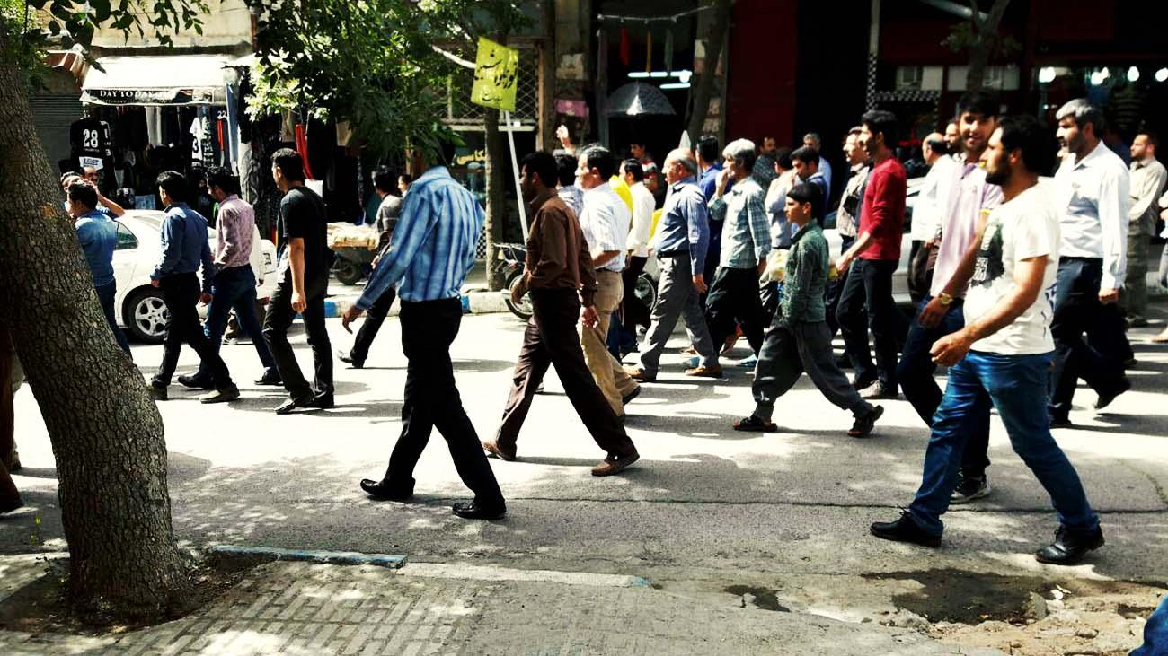 تجمع اعتراضی مردم هرسین