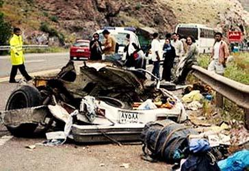 مرگ بیش از ۲۲ هزار نفر در حوادث رانندگی شهریور ماه های ۱۰ سال گذشته