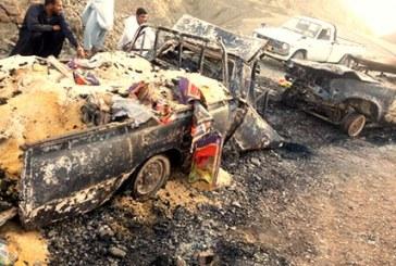 در اثر تیر اندازی نیروهای سپاه دو شهروند بلوچ در آتش سوختند