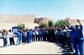 ادامه اعتراض کارگران ارگ بم به معوقات مزدی