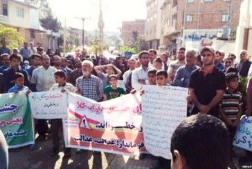 تجمع اهالی سه روستا در شمال ایران در اعتراض به طرح انتقال آب