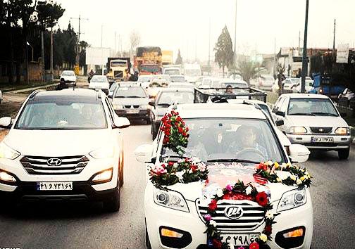 طرح نیروی انتظامی همدان برای نظارت بر کاروانهای عروسی از محضر
