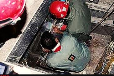 مصدومیت کارگر ۳۲ ساله بر اثر سقوط در چاه آسانسور در تبریز