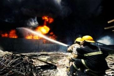 مرگ آتش نشان در اثر آتش سوزی مسکن مهر