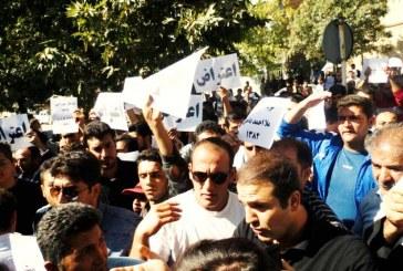 تجمع اعتراضی در مریوان به عبور و مرور تانکرهای حامل سوخت