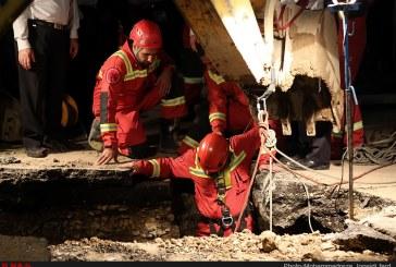 مدفون شدن کارگر زیر آوار در پی ریزش چاه