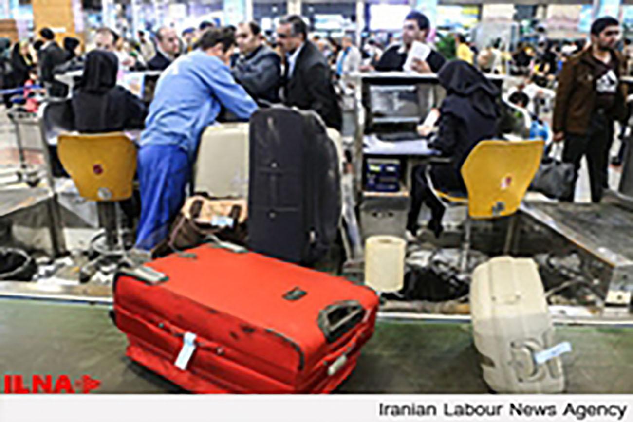 تجمع اعتراضی کارگران اخراجی حمل بار فرودگاه مهر آباد