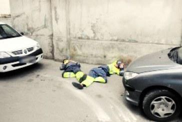 کتک خوردن کارگران شهرداری از سوی کارمندان بانک رفاه کارگران رشت