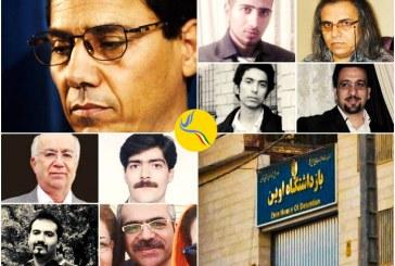 نگرانی زندانیان سیاسی بند ۳۵۰ اوین از وضعیت زندانیان در اعتصاب غذا