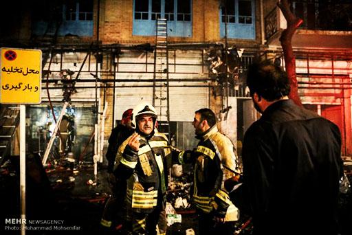 سوختگی سه کارگر در حریق کارگاه کفاشی