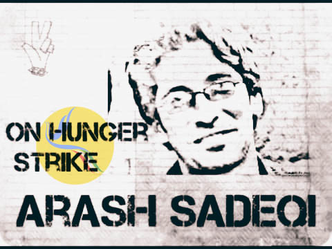 آرش صادقی؛ کاهش شدید قدرت تکلم پس از چهل و هشت روز اعتصاب غذا