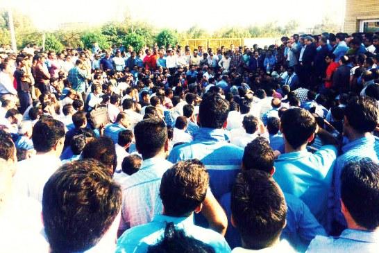 تجمع دوباره کارگران روغن نباتی قو مقابل وزارت کار