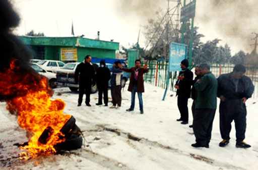 تجمع کارگران سبز مهاباد برای بیست و ششمین روز متوالی