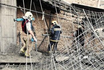 مدفون شدن کارگر ۵۰ ساله زیر آوار میلگرد