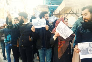 جلوگیری نیروهای امنیتی از تجمع در مقابل زندان اوین در حمایت از آرش صادقی
